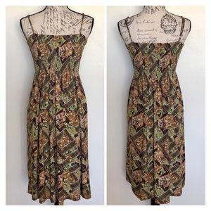 Cristina Love Paisley Smocked Bust Maxi Dress